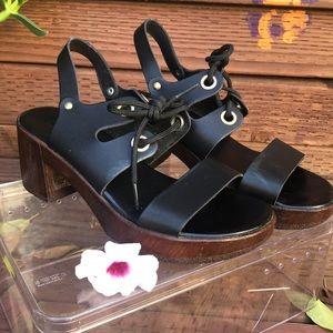 Top Shop Chunky Black Heels